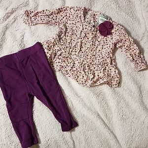 2 piece baby blouse and pants